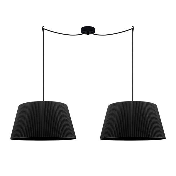 Czarna podwójna lampa sufitowa Bulb Attack Dos Plisado L