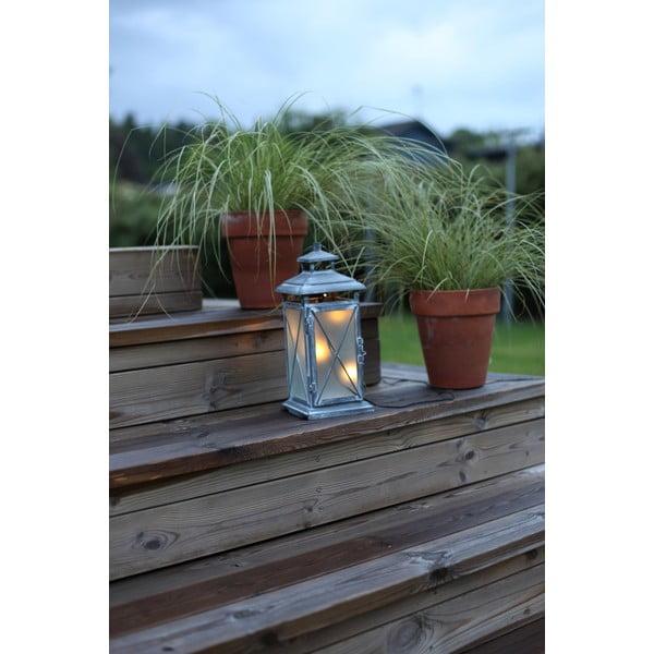 LED lampion Stallis 30 cm, szary
