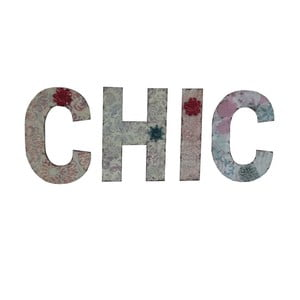 Napis dekoracyjny Antic Line CHIC