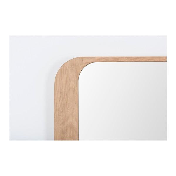 Lustro z ramą z drewna dębowego Gazzda Ena