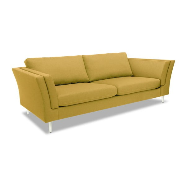 Żółta sofa 3-osobowa Vivonita Connor