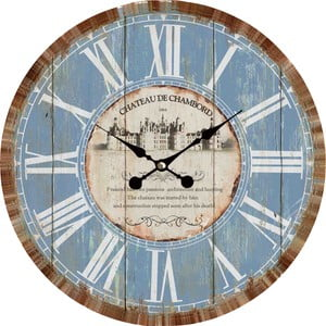 Zegar naścienny Blue Vintage, 34 cm