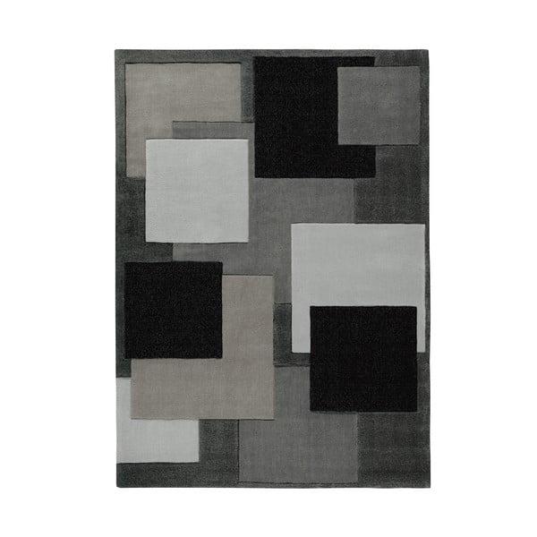 Ręcznie tkany dywan Cool Black, 90x160 cm
