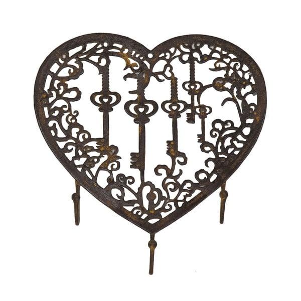 Wieszak na klucze Antic Line Heart