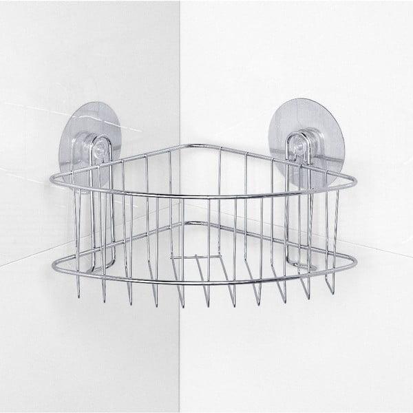 Półka narożna pod prysznic z przyssawkami Static-Loc, do 8 kg