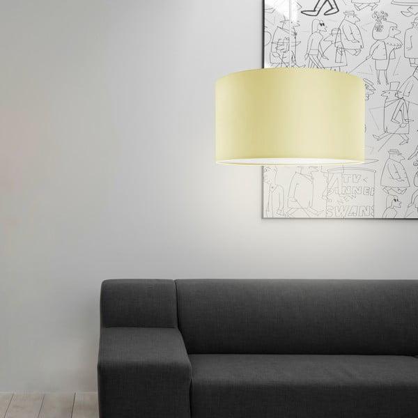 Lampa wisząca Tres, kremowo-biała, średnica 40 cm