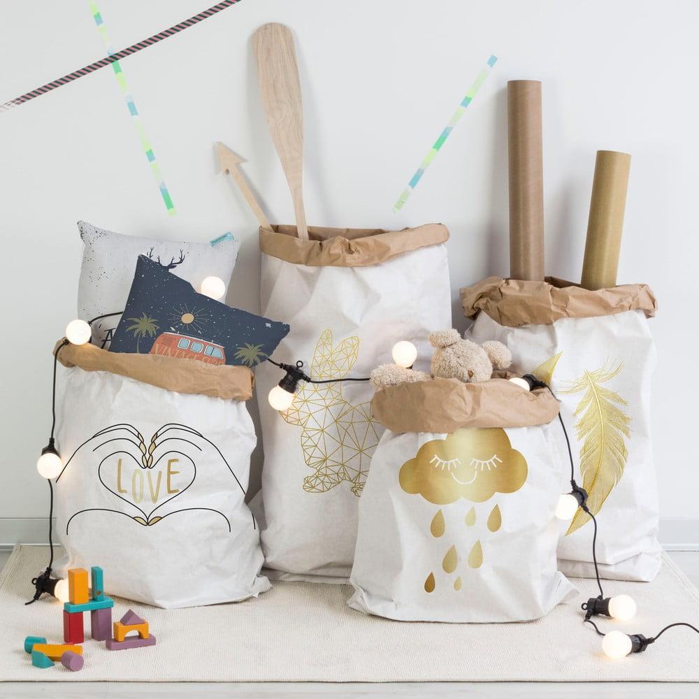 papierowa torebka little nice things feathers bonami. Black Bedroom Furniture Sets. Home Design Ideas