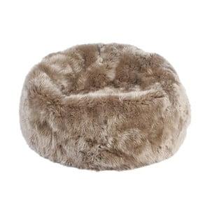 Szaro-brązowy worek do siedzenia z owczej skóry Auskin, výška 50 cm
