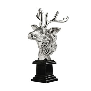 Statuetka Stag Head Black