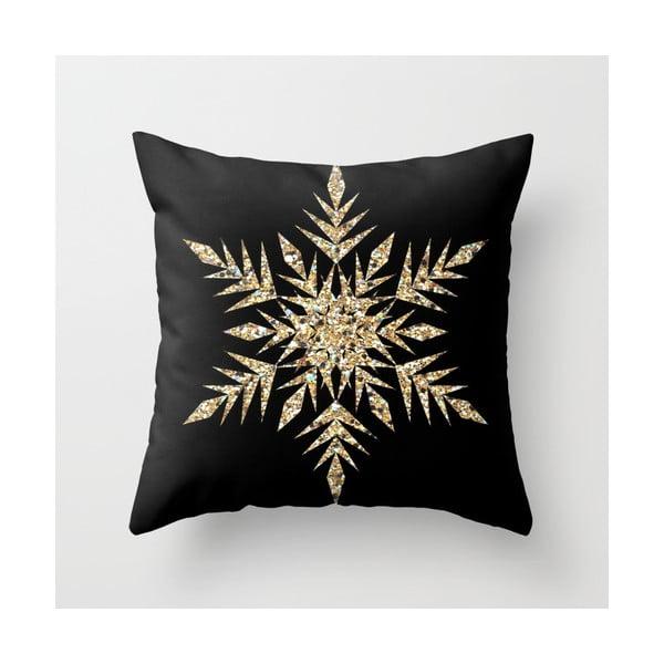 Poduszka Snowflake Gold, 45x45 cm