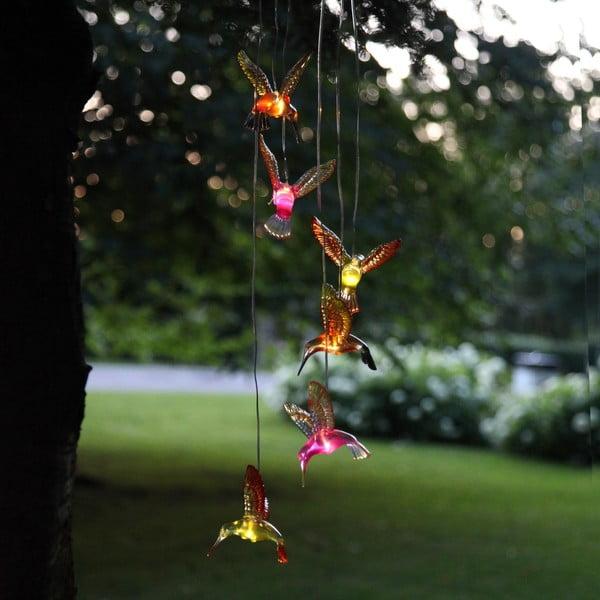 Solarna dekoracja wisząca LED Best Season Hummingbirds, 6 lampek