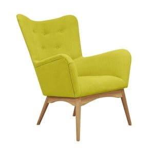 Żółty fotel Helga Interiors Karl