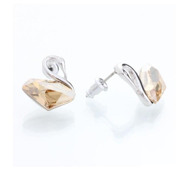 Kolczyki z kryształami Swarovski Elements Laura Bruni White Swan