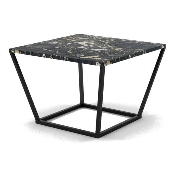 Czarny stolik z marmuru z czarną konstrukcją Absynth Noi Italy, mały