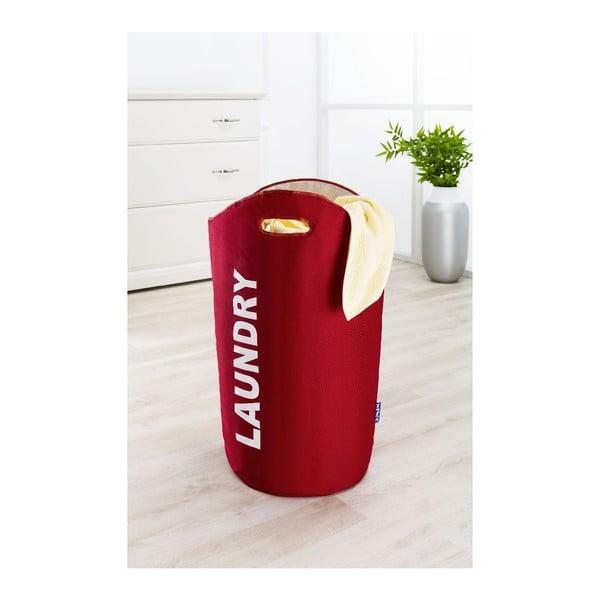 Czerwony kosz na pranie Wenko Lumo, 45 l