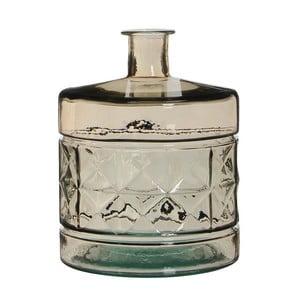 Brązowy wazon szklany Mica Guan, 26x21cm