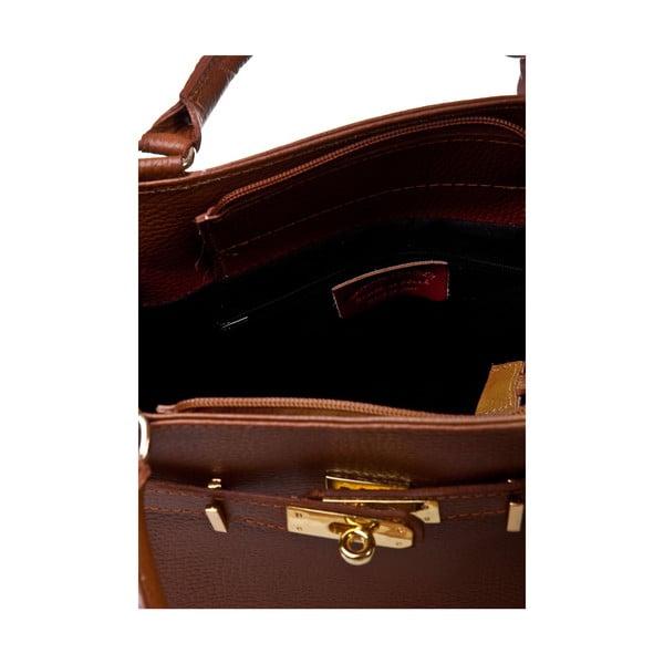 Skórzana torebka Italia 183 Cognac