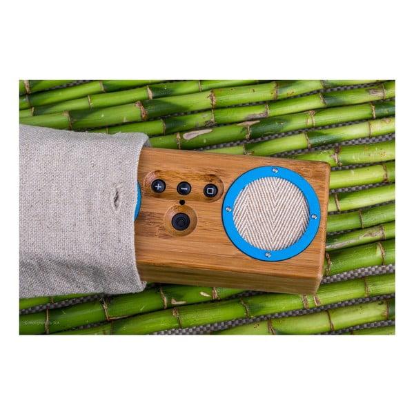 Przenośny bambusowy głośnik Dark Navy&Yellow Bongo