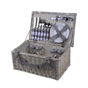 Kosz piknikowy z wyposażeniem dla 4 osób Ego Dekor Picnic Oliver