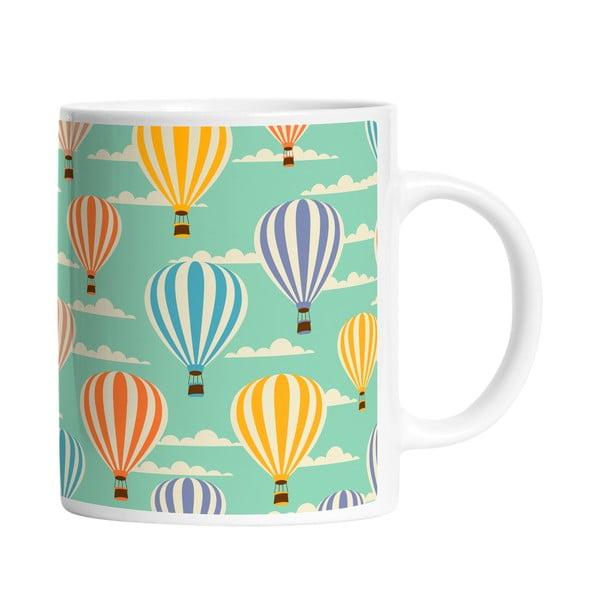 Ceramiczny kubek Flying Baloon, 330 ml