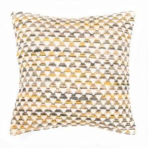 Żółta poduszka dekoracyjna ZicZac Pyramide, 45x45 cm