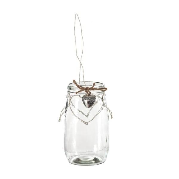 Szklany świecznik Lodge, 20 cm