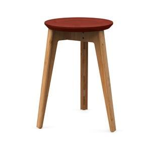 Stołek bambusowy z czerwonym siedziskiem z drewna bukowego We Do Wood Button