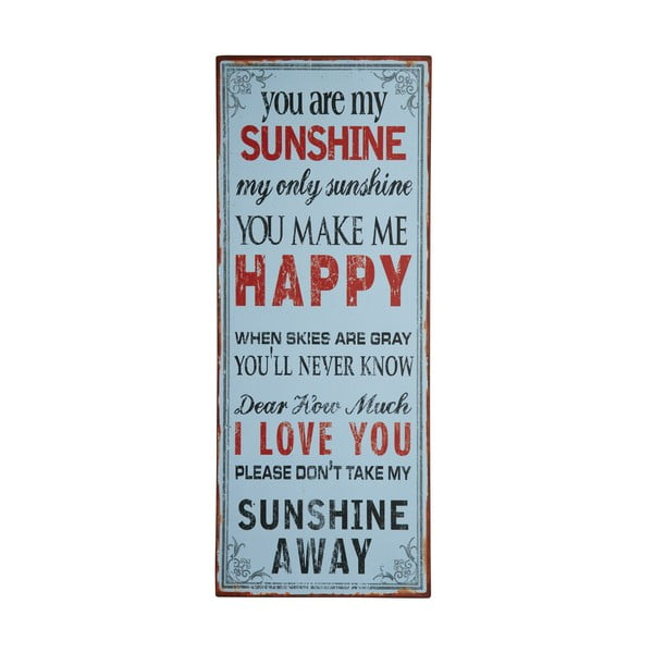Tablica You are my happy sunshine, 76x31 cm