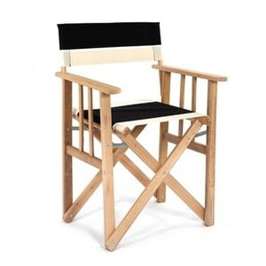 Składane krzesło Director, czarno-białe