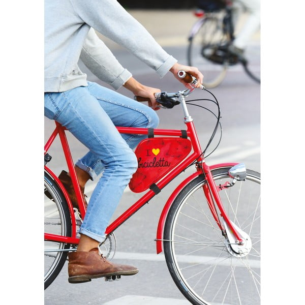 Torba/saszetka na rower I ♥ Bicicleta, zielona