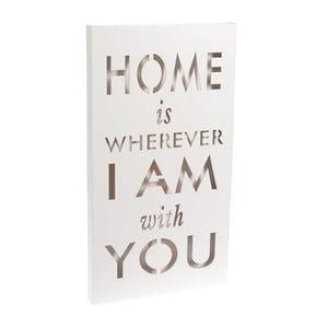 Świecąca dekoracja Home Is White, 24x44 cm