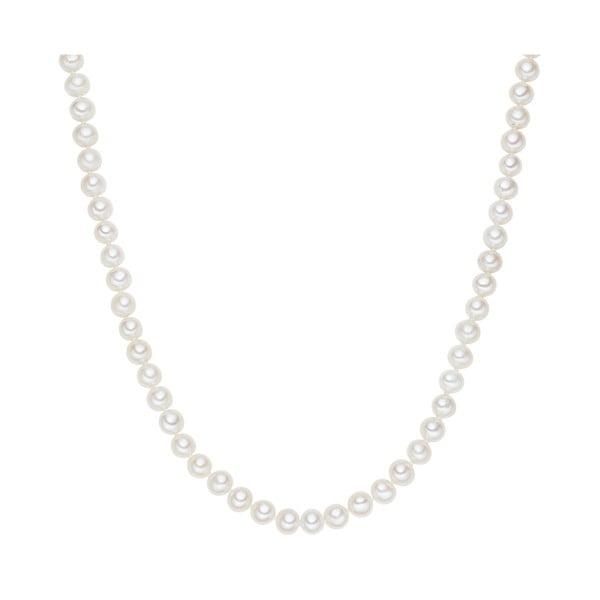 Biały   perłowy naszyjnik Chakra Pearls, 90 cm