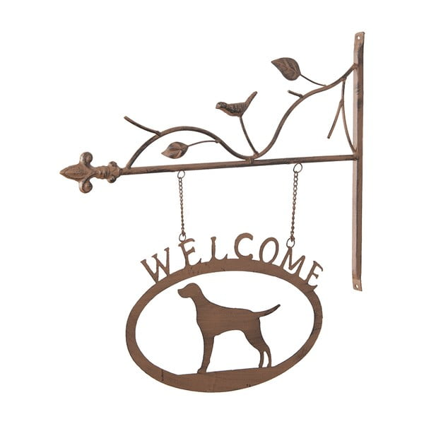 Metalowy znak Welcome, 46 cm