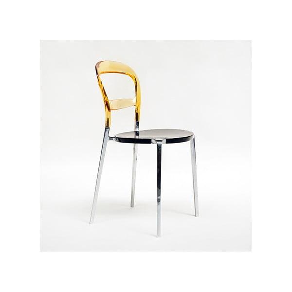 Krzesło Thalassa Alu Amber/Black