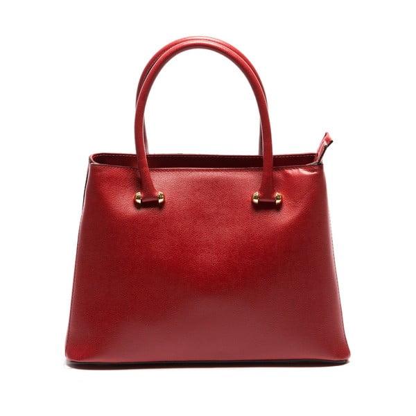 Czerwona skórzana torebka Sofia Cardoni Francesca