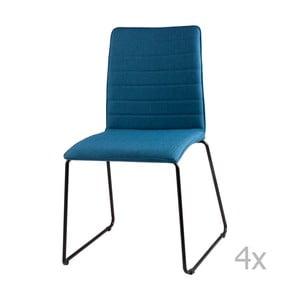 Zestaw 4 niebieskich krzeseł sømcasa Vera