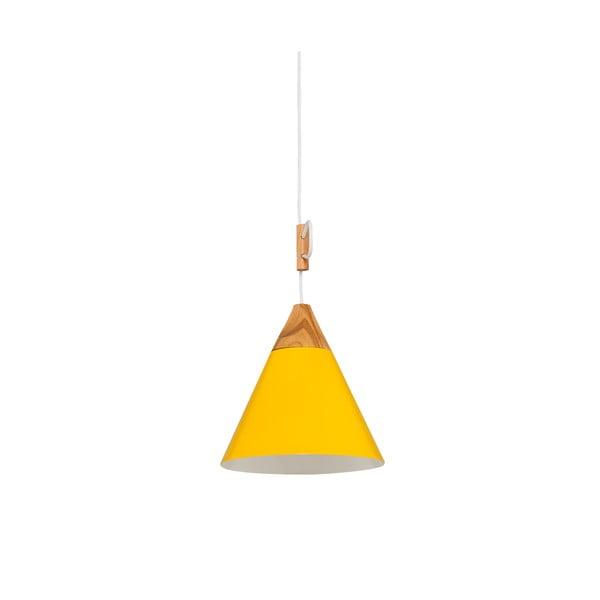 Lampa wisząca Tomas S, żółta