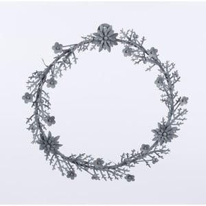 Metalowy wieniec Wreath, szary