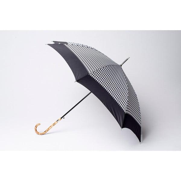 Parasol Houndstooth, czarny
