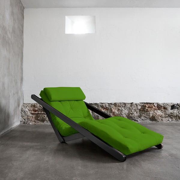 Szezlong Karup Figo Wenge/Lime, 70 cm