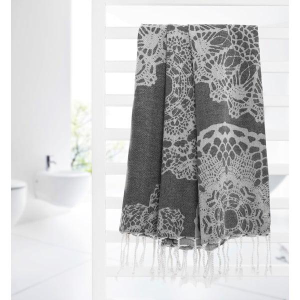 Ręcznik hammam Lace, szary
