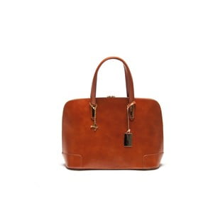 Skórzana torebka Luisa Vanini 364 Cognac