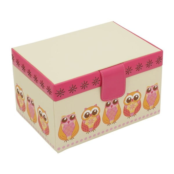 Beżowa szkatułka Friedrich Lederwaren Owlivia