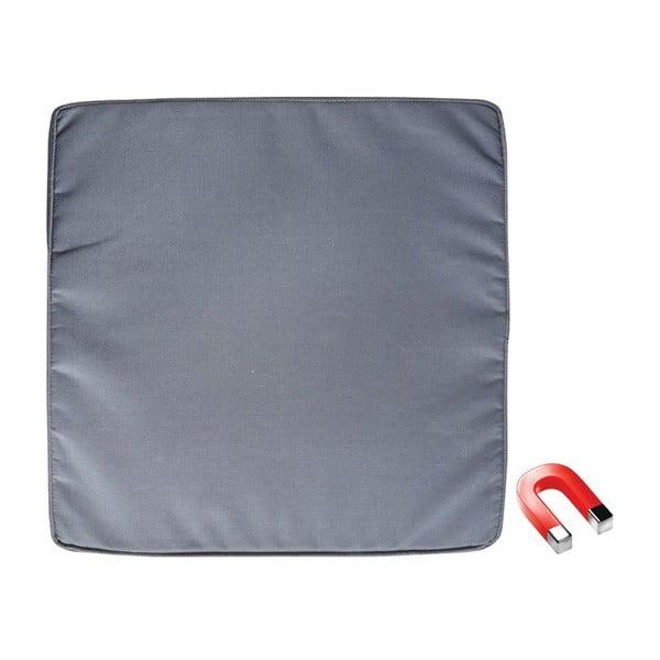 Szara poduszka na krzesło z magnesem zapobiegającym zwiewaniu przez wiatr Esschert Design Magic