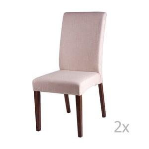 Zestaw 2 beżowych krzeseł sømcasa Elsa