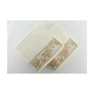Zestaw 2 ręczników Asu Cream, 50x90 cm