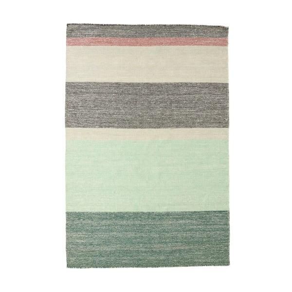 Wełniany dywan Pulvis Plum, 80x250 cm