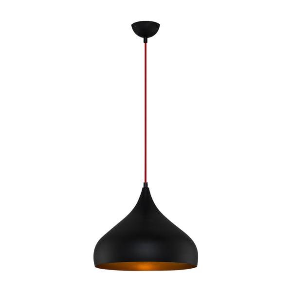 Czarna lampa wisząca Moises,Ø35cm