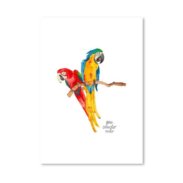 Autorski plakat Birds, 30x42 m