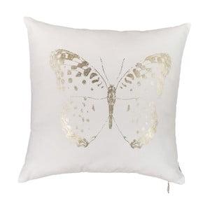 Biała poszewka na poduszkę Apolena Butterfly Line, 45x45cm